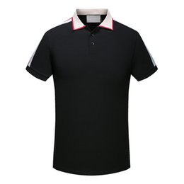 Wholesale Design Polo T Shirts - 2018 polo shirt fashion Short Sleeved animal embroidery polo t shirts men tee design printing poloshirt clothes Medusa tops