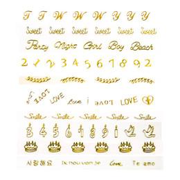 Canada Lettre numéros 12 conceptions Sweet Heart Love Valentine Nail Art autocollant pour femme fille marquage à chaud 3D Nail Manicure Decor Tool cheap 3d stickers sweet Offre