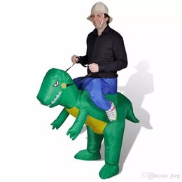 Wholesale inflatable halloween - Inflatable dinosaur costume for adults Halloween costume toys disfraces fancy dress for men kids animal cloth Fan operated Halloween toy AA