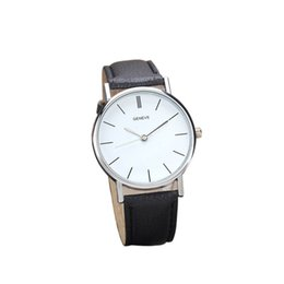 Wholesale Mens Watch Brands List - Kol Saati New Listing Montre Homme Vintage Faux Leather Analog Quartz Wrist Watch Mens Watches Top Brand Luxury reloj hombre