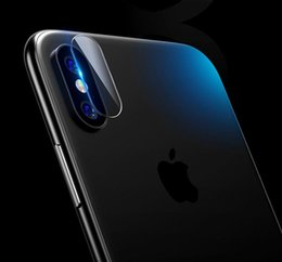 Wholesale hd mirror screen protector - Rear Back Camera Lens Flexible Tempered Glass For iphone X 7 7Plus 6 6S PLUS Ultra Thin HD Soft Fiber Screen protector Protective Film