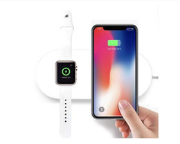 Wholesale Free Phones Uk - High Quality 2in1 Qi Wireless Charger for Apple Smartwatch iPhone 7.5W Samsung 10W Phone Smart Watch Fast Charging Pad Dock free dhl