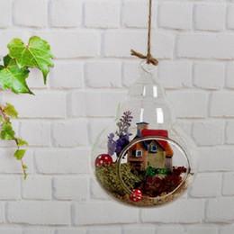 2019 maceteros de tina de metal SOLEDI Florero de vidrio para terrarios Soporte para plantas Colgante de vidrio para terrarios Teraryum Vazen Florero En Verre Glazen Bol Soporte de flores para plantas