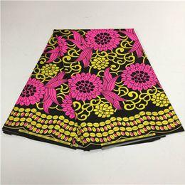 Wholesale Super Hollandais Wax Prints Fabric - 2018 Ankara African Polyester Wax Prints Fabric Super Hollandais Wax High Quality 6 yards African Fabric for Party Dress F18-2