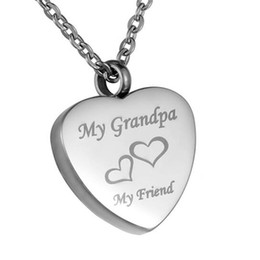 Wholesale Photo Engravings - Funeral jewelry engraved text friend photo plane heart-shaped pendant can open stainless steel to commemorate lover's pendant