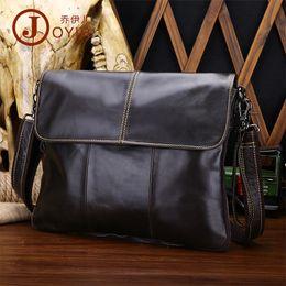 Wholesale Pocket Tablet - Wholesale men's real leather handbag, casual fashion, slant, slung shoulder slung bag ultra thin tablet computer cow leather bag