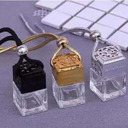 2019 bouteilles en forme de carré Bouteilles de parfum en verre de forme carrée pendentif 6ml de parfum bouteille suspendue vide de diffuseur de voiture sans DHL promotion bouteilles en forme de carré