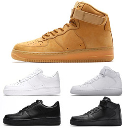 Logo tagliato online-Nike Air Force 1 One the details page for more logo Designer Running Shoes For Men Donna Trainer SIA VERO Punch Hot Oreo Triple Nero Bianco Blu Volt Sport Sneakers Taglia 36-45