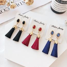 Femmes filles acrylique pierres précieuses vintage balancent boucles d'oreilles gland boucle d'oreille goutte goutte 6 couleurs choisir ? partir de fabricateur