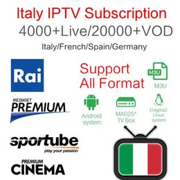 Pc smart tv-box online-Best Stable Italien IPTV italia 4000+ PayTV Free Smart TV + Albanian Türkei UK Deutsch USA IPTV für Android Box Enigma2 Smart TV PC Linux