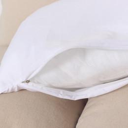 Wholesale 6 Coton Tissu Coussin Cas Taie D oreiller Avec Zipper Réutiliser Core Facile À Laver Blanc literie Taie d oreiller x45 cm