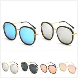 Wholesale Candy Films - Korean Sweet Candy Color Film Metal Polarized Women's Sunglasses Fashion Personality Bright Sun Glasses Women's Clothing