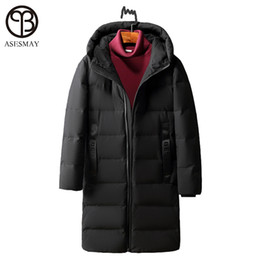 Wholesale Natural Goose Feathers - Asesmay High Quality White Duck Down Jacket Winter Men Down Parka Brand Goose Long Coat Hooded Feather Men's Warm Winter Jackets