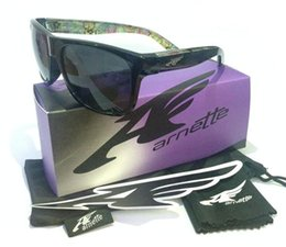 Wholesale Witch Box - Wholesale-Arnette 4177 Witch Doctor Dropout Sunglasses With Box Case Cycling Outdoor Sports Skiing Sunglasses Goggle UV400 Sunglasses