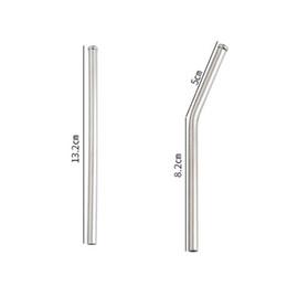 Égratignures en acier inoxydable en Ligne-Paille à boire réutilisable en métal de paille d'acier inoxydable de 13cm anti-éraflure pour la partie à la maison Barware Bar Accessoires QW8739