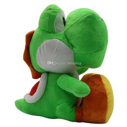 2019 brinquedo de coisas yoshi Super Mario Bros brinquedos de pelúcia 2018 novo Mario dinossauro Yoshi Bichos de pelúcia 30 cm / 12 polegadas dos desenhos animados Bonecas C4144 desconto brinquedo de coisas yoshi