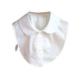 Wholesale Peter Pan Blouses - Wholesale- 2017 Women Detachable Peter Pan Lapel Shirt Fake False Collar Choker Necklace Blouse YRD
