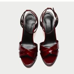 Women Platform Dress black sandals Ankle Wrap Tie Front women ankle strap  high heel Block Heel open toe shoes with buckle breaded e85601aa5eee