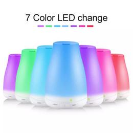 Светодиодный световой сигнал онлайн-100 мл 7цветное эфирное масло диффузор портативный увлажнитель воздуха диффузор из светодиодов ночник ультразвуковой холодный туман создатель свежего воздуха спа ароматерапия