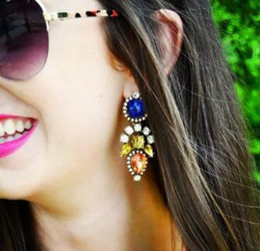 tipi di chiodi Sconti HOT NEW Style Grassetto e brillante gemma è lega di orecchino temperamentale è impostato diamante tipo femminile chiodo dell'orecchio adornano articolo alla moda individuale ch