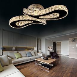 Argentina Moderno de alta calidad de acero inoxidable 36W LED de cristal de la lámpara de techo plafonnier lujo montaje empotrado luces de techo para comedor sala de estar Suministro