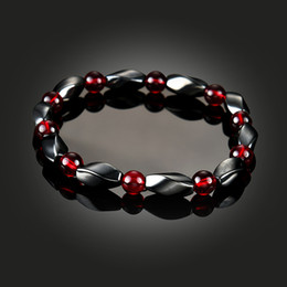 Wholesale men healthy - hot sale Health Magnetic Hematite Bracelet Stone Bead String Wristband Bangle Cuff Women Men Power Healthy Fashion Jewelry drop ship 162547