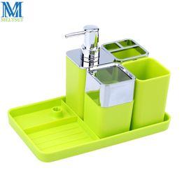 Soap Dispenser Toothbrush Holder Set Coupons   5pcs Plastic Bathroom  Accessories Set Soap Dispenser+Soap