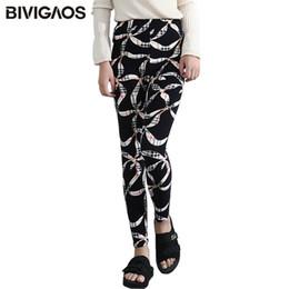 Wholesale silk printed fabric clothing - BIVIGAOS Women Leggings Silk Scarves Pattern Printed Legging Pants Sanding Fabrics Elastic Casual Leggings For Women Clothing