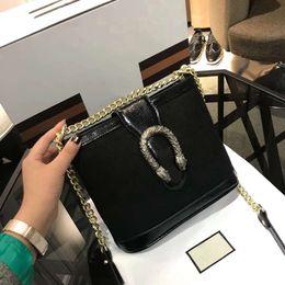 2019 saco de vagão caqui Trend lady alta qualidade stray saco de ombro vinho deus de peles europeu e americano moda caixa de saco do mensageiro