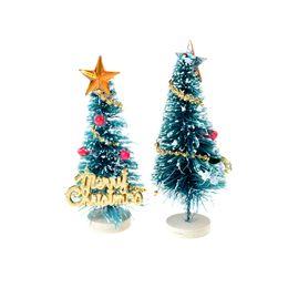 Wholesale Christmas Pine Decoration - 1PCS 2017 Christmas Small Pine Trees Christmas Decoration mini Snow Tree Decor For Home Supplies