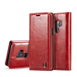 Оригинальный CaseMe Марка Кожаный Чехол Магнит Флип Кожаный Чехол для Телефона Чехол Для Samsung Galaxy S4 S5 Мини S6 S7 Egde S8 S9 Plus от