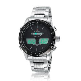 Marca de lujo NAVIFORCE Hombres Relojes deportivos de moda Reloj analógico digital de cuarzo de los hombres Reloj de pulsera de acero completo relogio masculino desde fabricantes