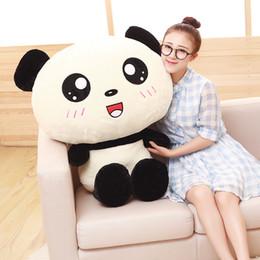 2019 panda peluche grandi peluche Gaint panda peluche grande 70 cm bella panda bambola morbida cuscino di tiro regalo di Natale w2291 panda peluche grandi economici