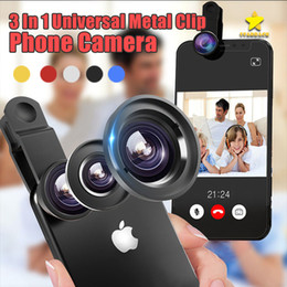 7c06d0fc81866c fish eyes lens for samsung Coupons - 3 In 1 Universal Metal Clip Phone  Camera Lens