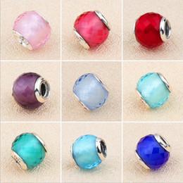 tropischer schmuck großhandel Rabatt 2018 New Authentic Echt 925 Sterling Silber 9 Farben Murano Glas Europäischen Charms Bead Pandora Charms Perlen Armband Schmuck