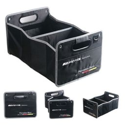 Wholesale Boot Holders - For Mercedes Benz AMG Edition Boot Trunk Organizer Collapsible Fold Storage Bag Box Interior Accessories Folding Collapsible Bag
