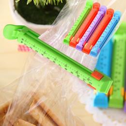 2019 marquage plastique Agrafe scellée de nourriture de clip de sachets en plastique de casse-croûte de voyage à la maison créatrice durable avec la marque LZ1594 de date marquage plastique pas cher