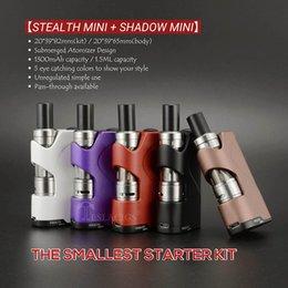 Wholesale Metal Shadow Box - Original Teslacigs Stealth Mini Mod E Cigarette Vaporizer Mod Unregulated Box Mod 45W 1300mAh Vape Mods With Shadow Mini Tank