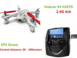 caméra gyro d'hélicoptère Promotion Hubsan x4 H107D Télécommande Hélicoptère LED Lumières 0.3MP HD Caméra 6 Axes Gyro Quadricoptère 4 Canaux USB Brosse Moteur Dron