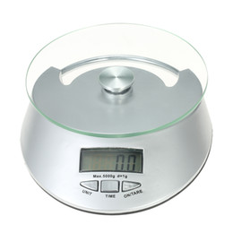 Wholesale Digital Scales 1g - Kitchen Scale Accurate LCD Electronic Scale Kitchen Scale Weight Balance Clock Timer Food Diet Mini Food 5kg 1g