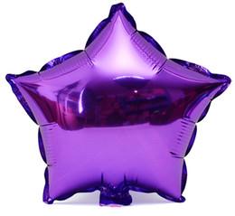 18 pouces cinq points étoile ballon 5 points étoile feuille ballon 6 mélange de couleur or argent bleu violet, rouge vert couleur fête d'anniversaire h312C ? partir de fabricateur