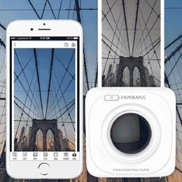 2019 kommerzielle etikettendrucker PAPERANG P1 Thermodrucker Portable Bluetooth 4.0 Quittungsdrucker Fotodrucker Telefon Drahtlose Mini-Drucker 1000 mAh Lithium-Ionen