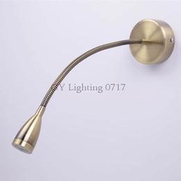 Wholesale vintage reading lamps - AC110v 120v 220v 240V Vintage Led Bronze bedside lamp reading lamp wall lamp led plumbing hose lighting espelho decorativo parede espelho de
