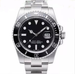 Wholesale Brass Rounds - 2018 hot AAA Luxury brand Sapphire WATCHES Black Ceramic Bezel Dial Stainless Steel Men's Watch sports Watches