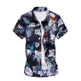 217dcf7cf93c Plus Size 4XL 5XL 6XL 7XL Mens Shirts Summer Men Clothing Short Sleeve  Design Floral Shirts Leisure Holiday Beach Hawaiian Shirt