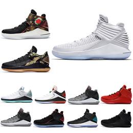 low priced 0f779 8b68c Pure Platinum 32 32s Chaussures de Basketball pour Hommes CNY Camo Grey MVP Noir  Rouge Bleu chaussures mvp sur la vente