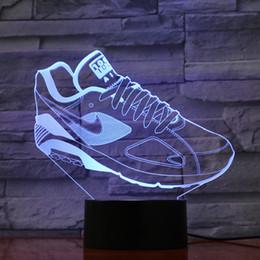 Marche Chaussures Forme Lampe 3D Optial LED Lampe Nuit Lampe AA Batterie USB Alimenté 7 RGB Lumière DC 5V Gros Livraison Gratuite ? partir de fabricateur