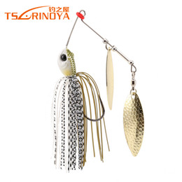 buzzbait lures Coupons - TSURINOYA P25 Spinnerbait 10g Fishing Lure 5 PCS Lot Wobblers Metal Spoon Jig Lure Buzzbait Lure Artificial Baits Hard Bait