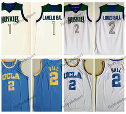 school shirt men Coupons - Mens Vintage #1 Lamelo Ball Lonzo Ball Chino Hills Huskies High School Basketball Jerseys Cheap UCLA Bruins Lonzo Ball #2 Stitched Shirts