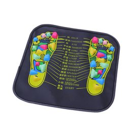 Wholesale Foot Leg Massager - LE LIFE Reflexology Walk Stone Foot Leg Pain Relieve Relief Walk Massager Mat Pad Cushion Health Care Acupressure massageador